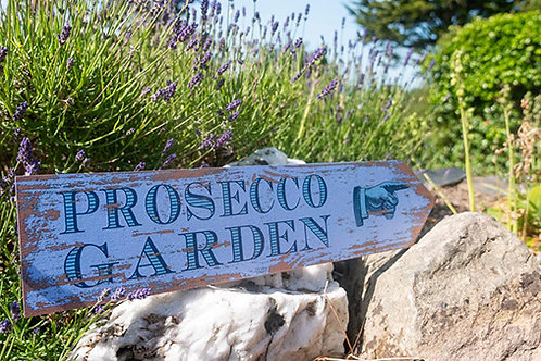 Prosecco Garden Sign
