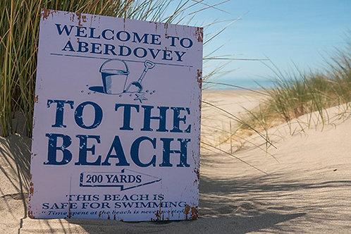 Aberdovey 200 Yards Sign