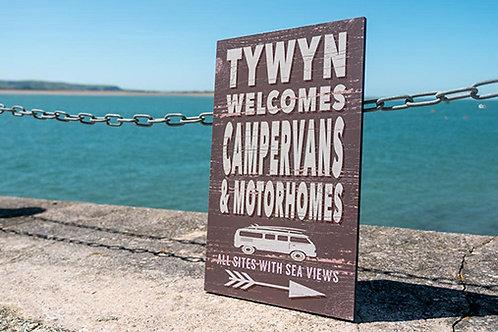 Tywyn Campervans  & Motorhomes Sign