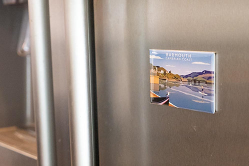 Barmouth Bridge Metal Fridge Magnet