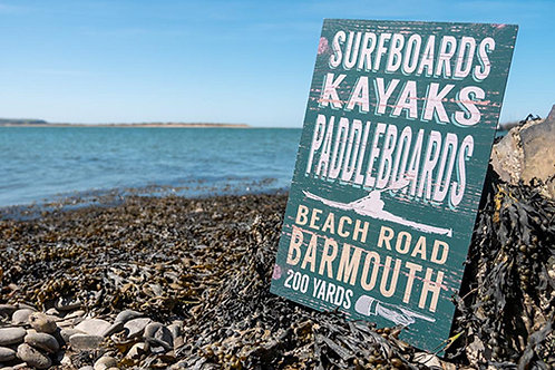 Barmouth Beach Road 200 Yards Sign