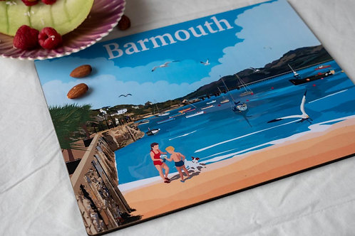 Barmouth Beach Wooden Table Matt