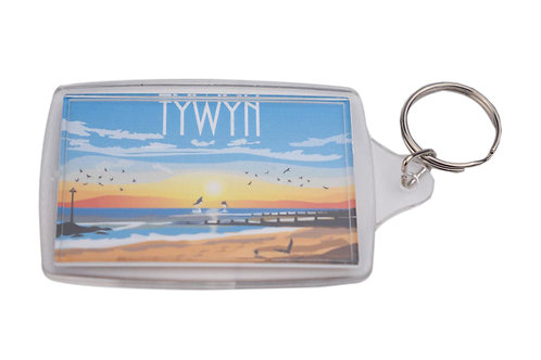 Tywyn Sunset Keyring