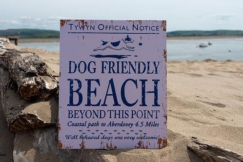 Tywyn Dog Friendly Beach Sign