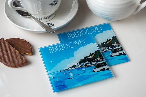 Aberdovey Glass Drinks Coaster