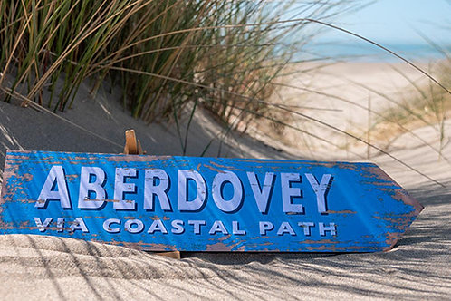 Aberdovey Via Coastal Path Sign