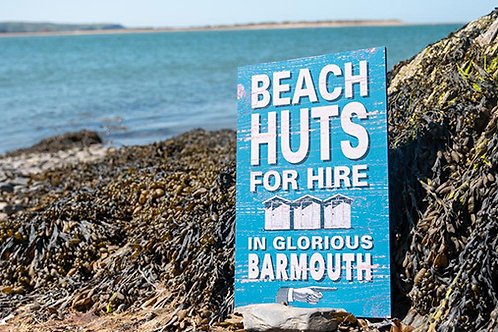 Barmouth Beach Huts For Hire Sign
