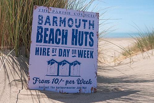 Barmouth Beach Huts Sign