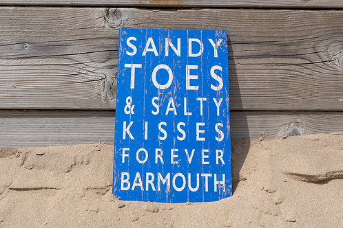 Barmouth Sandy Toes & Salty Kisses Sign