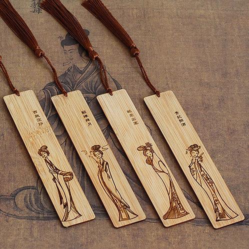 4pcs Wooden Bookmarks