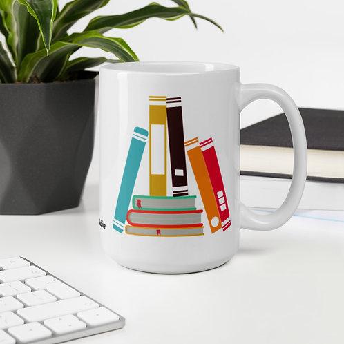 Book stack mug