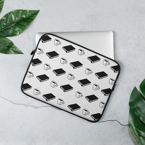 Books & Tea Laptop Sleeve