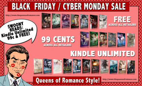 The Queens of Romance Black Friday/Cyber Monday Sale Starts Now!