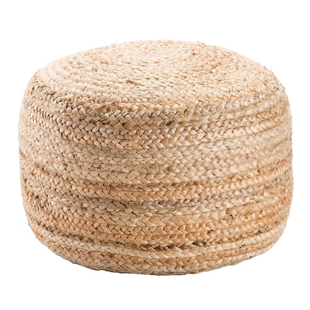 natural jute pouf