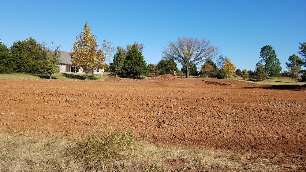 Lot cleared and graded for building.