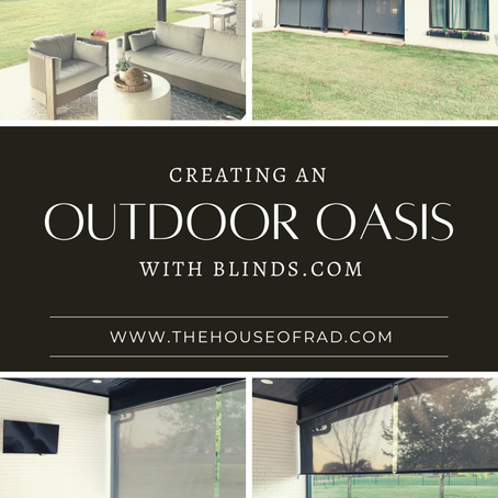 CREATING AN OUTDOOR OASIS WITH BLINDS.COM