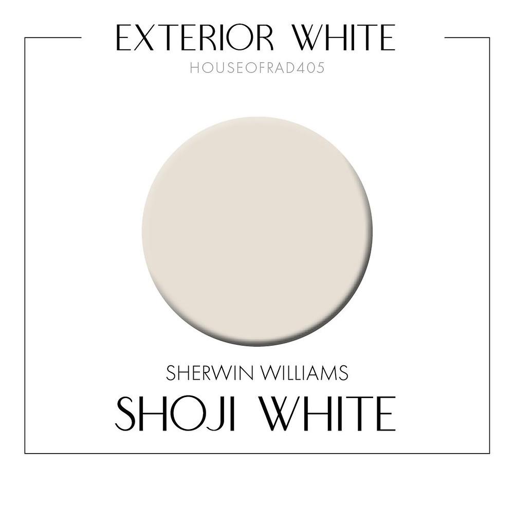 Sherwin Williams Shoji White Exterior Painted Brick