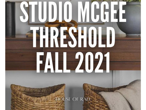 TARGET'S STUDIO MCGEE THRESHOLD FALL 2021