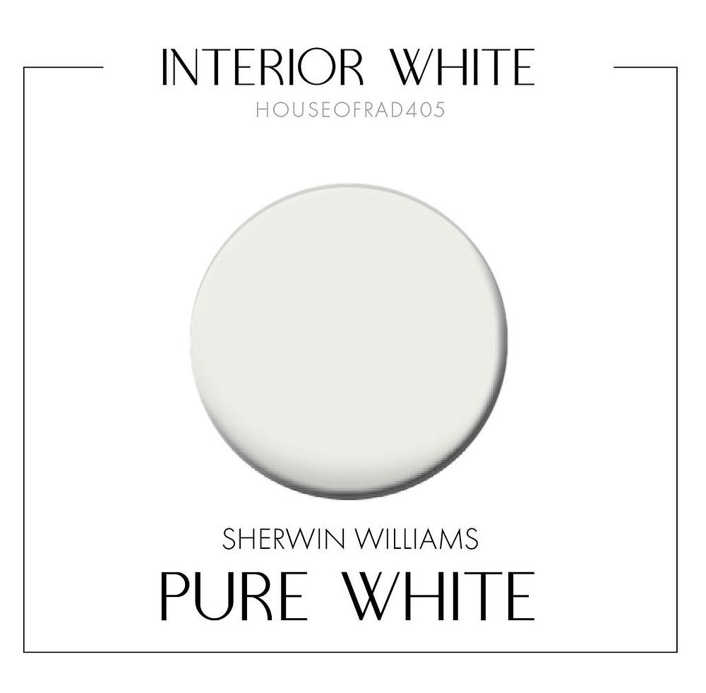 Sherwin Williams Pure White Interior Paint