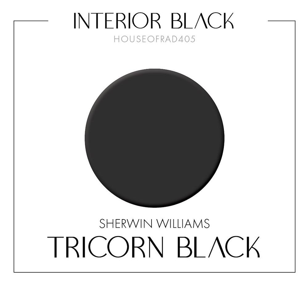 SHERWIN WILLIAMS TRICORN BLACK