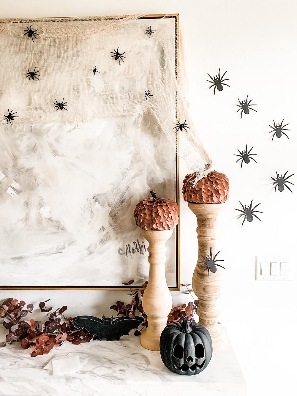 Halloween spider wall decor