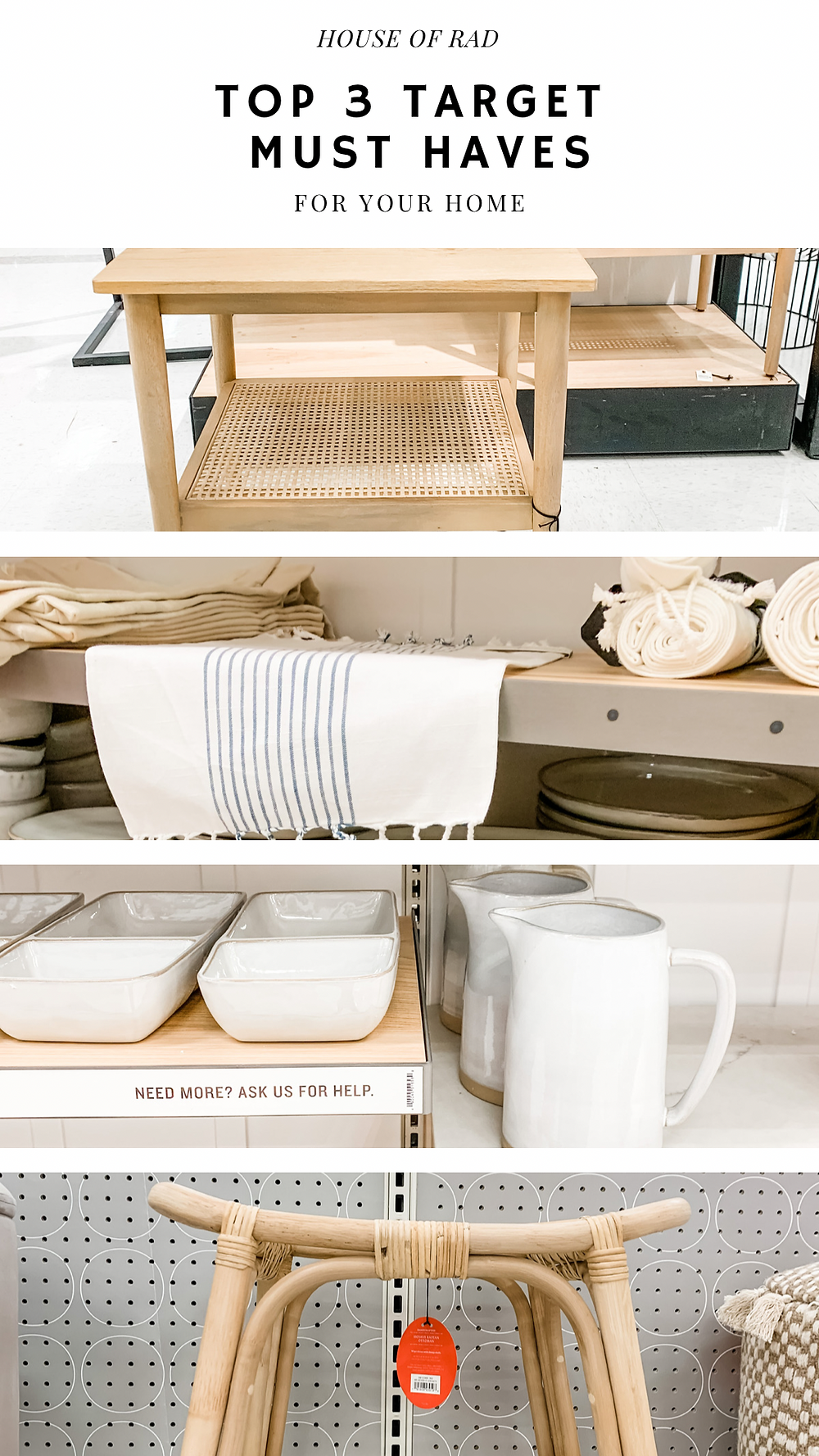 TOP 3 TARGET HOME MUST HAVES