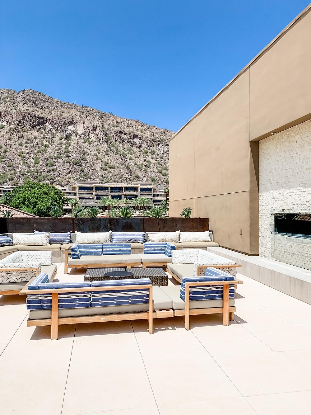 The Phoenician Resort Scottsdale Arizona Spa Rooftop Pool Overlooking Camelback Mountain