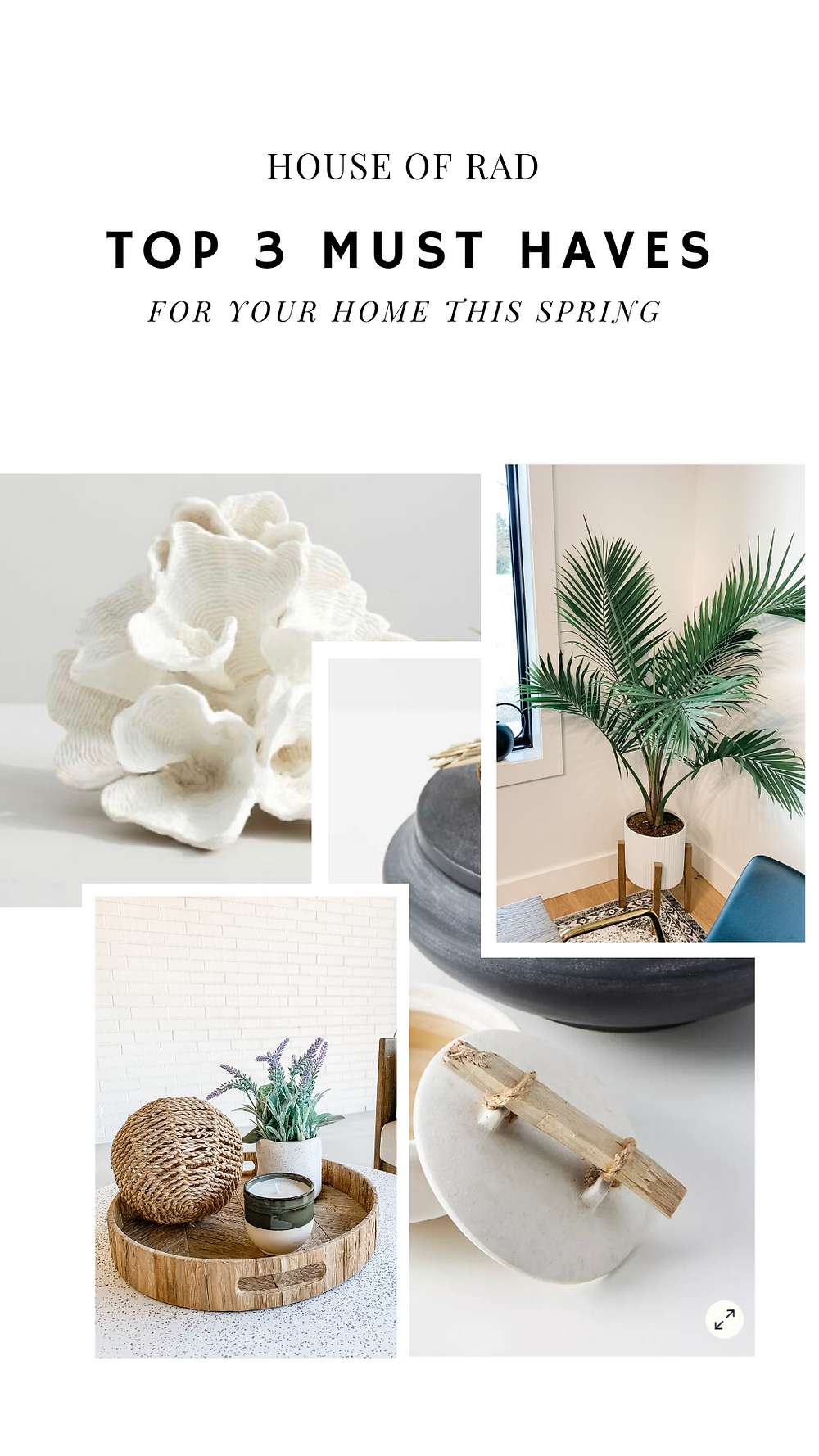 TOP 3 HOME MUST HAVES FOR SPRING