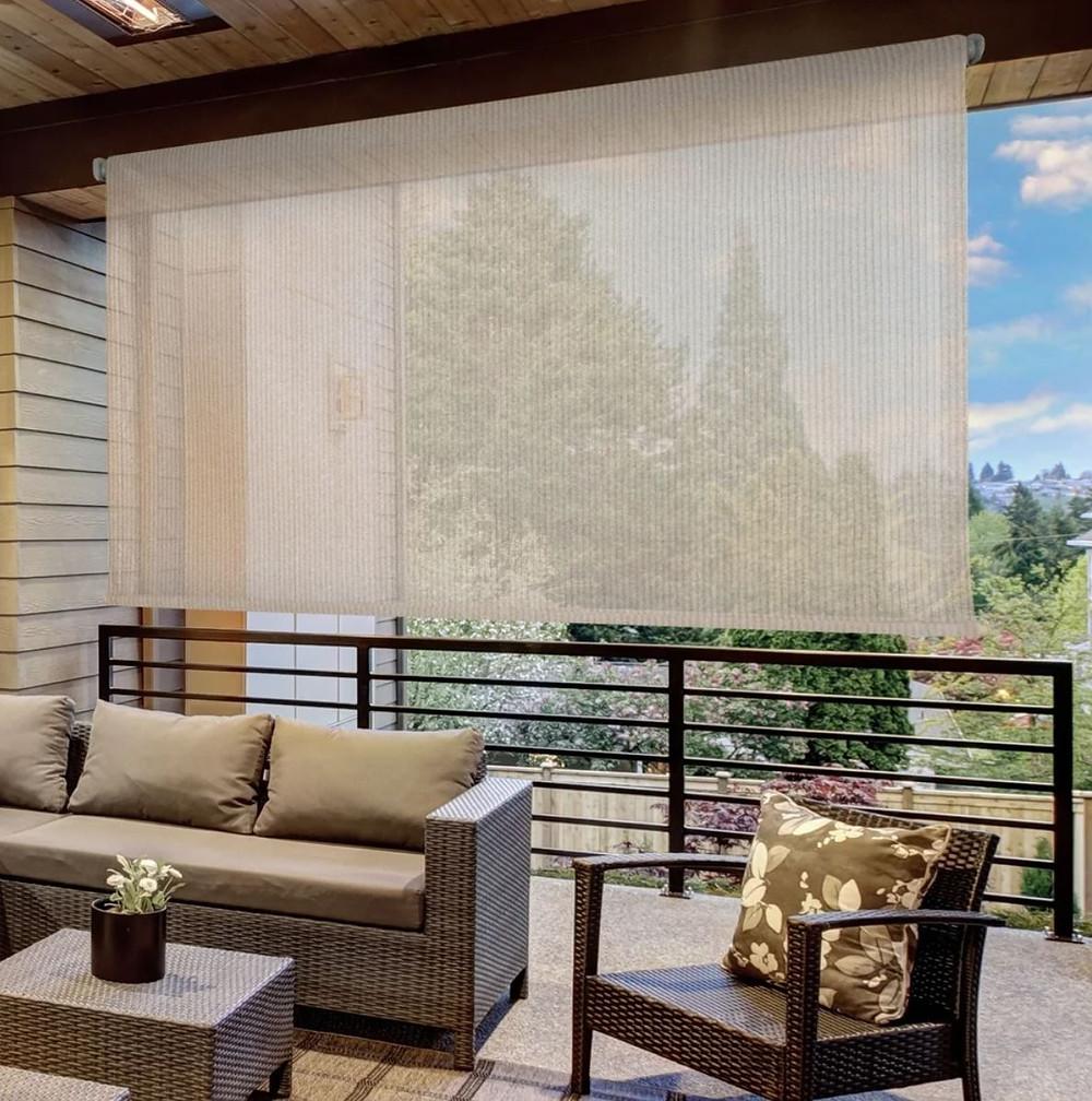 Overstock Outdoor Sun Shade in Beige Brown or Gray
