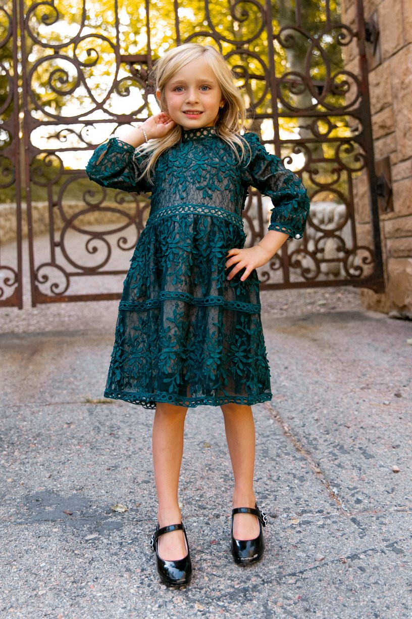 Emerald Green Girls Special Occasion or Christmas Dress