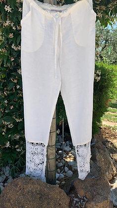 Pantalone Capri Macramè