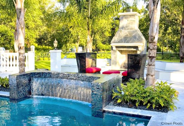 Crown Pools custom water feature
