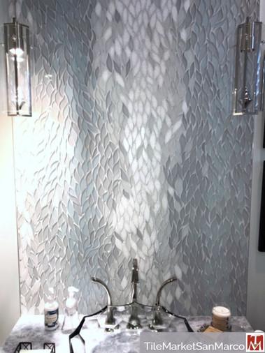 Customer's New Ravenna mosaic tile backsplash