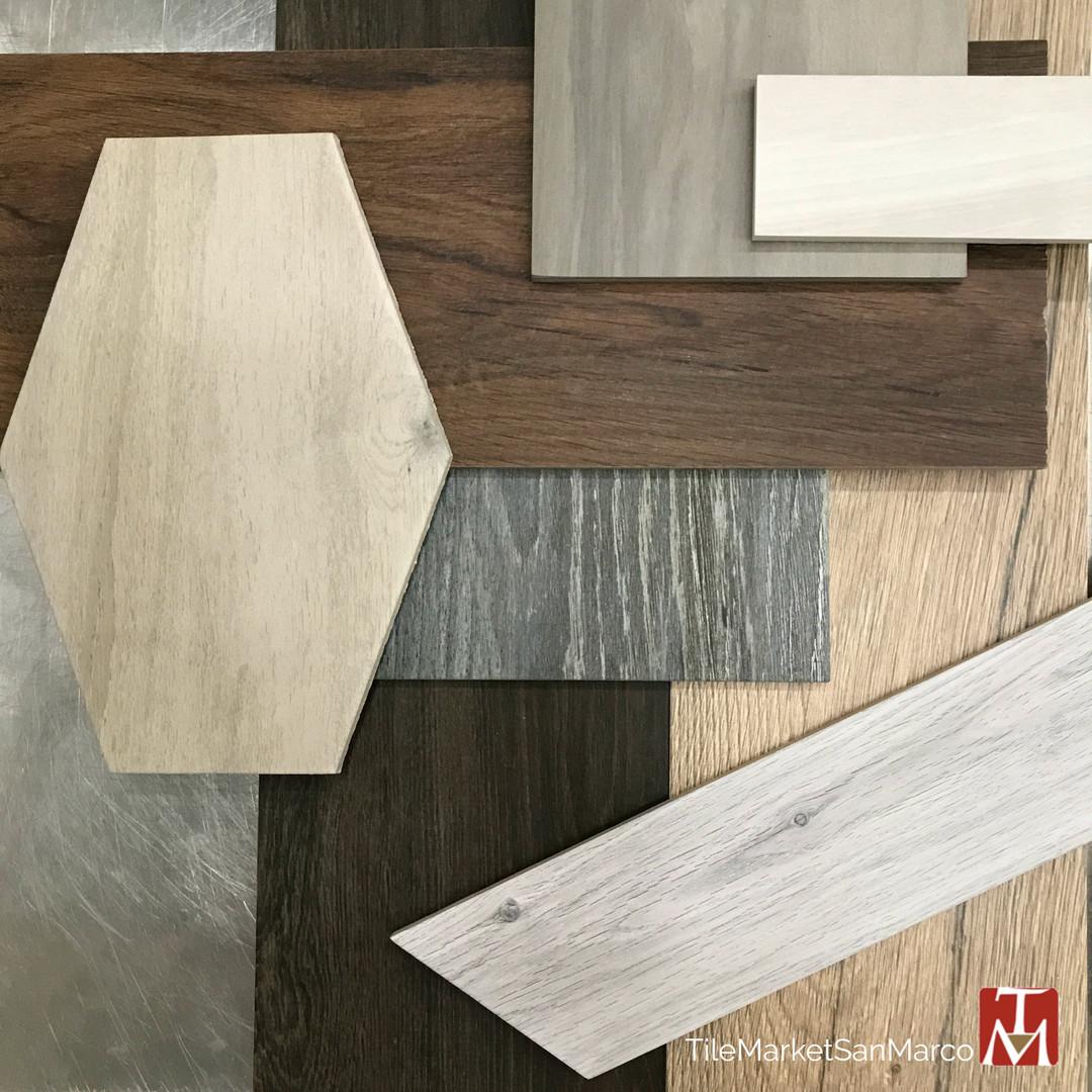 Porcelain wood-look tile