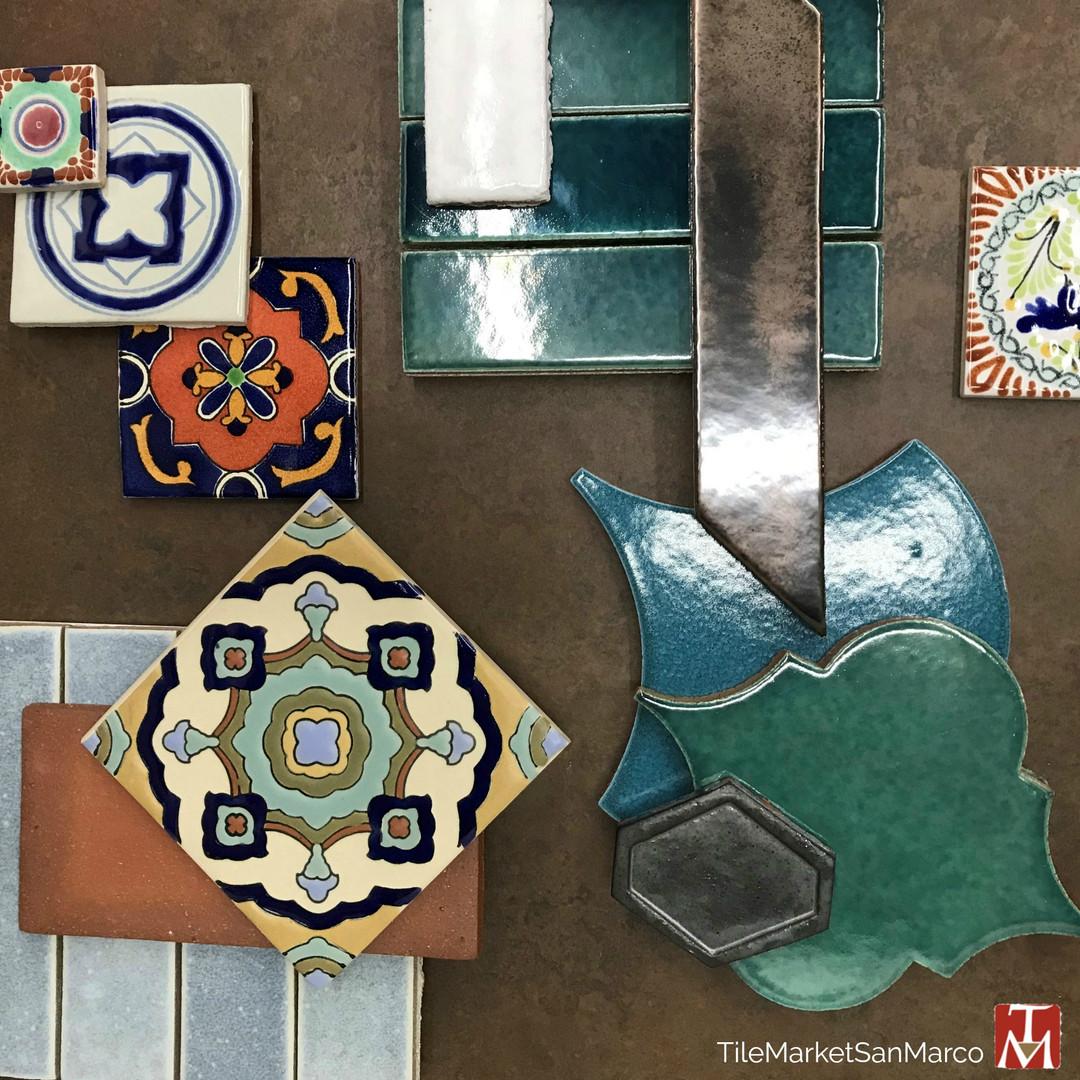 Terracotta tile and glazed tiles