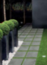 Porcelain tile outdoor pavers