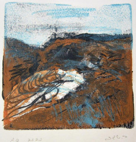 A place of light Trace monotype, 14X14 cm. 2020