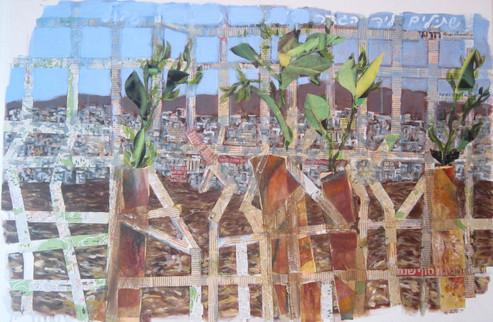 Planted near a fence On canvas- 120X80 cm. 2015
