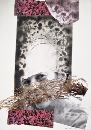 Self portrait Print , collage on paper, 28X35 cm. 2015