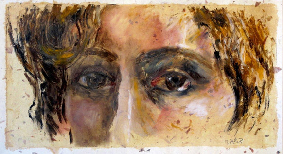 Observation Oil sticks on paper, 47X25 cm. 2013