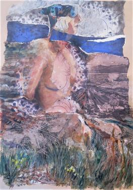 Goddess Print & collage on paper, 48X68 cm. 2014