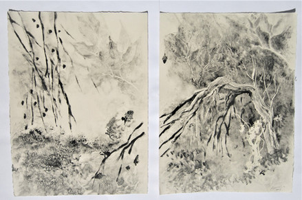 Japanese landscape Monotype, 60X38 cm. 2018
