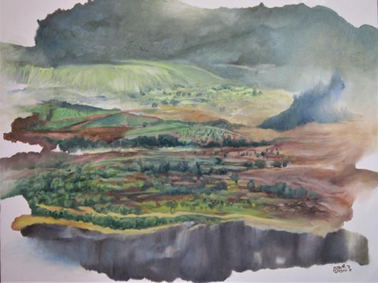 Deep breath Oil on canvas, 70X55 cm.  2018