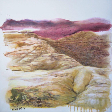 Yehuda desert Oil on canvas, 1X1 m.  2015
