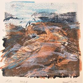 Desert Trace monotype, 14x14 cm. 2020