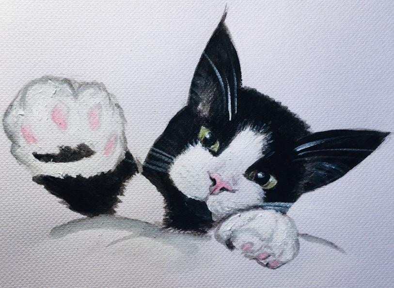 Karin Bergdahl, Findus, 21x30, akvarell,