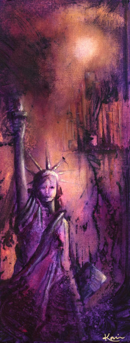 Karin Bergdahl, Liberty, 20x50, akryl, 2