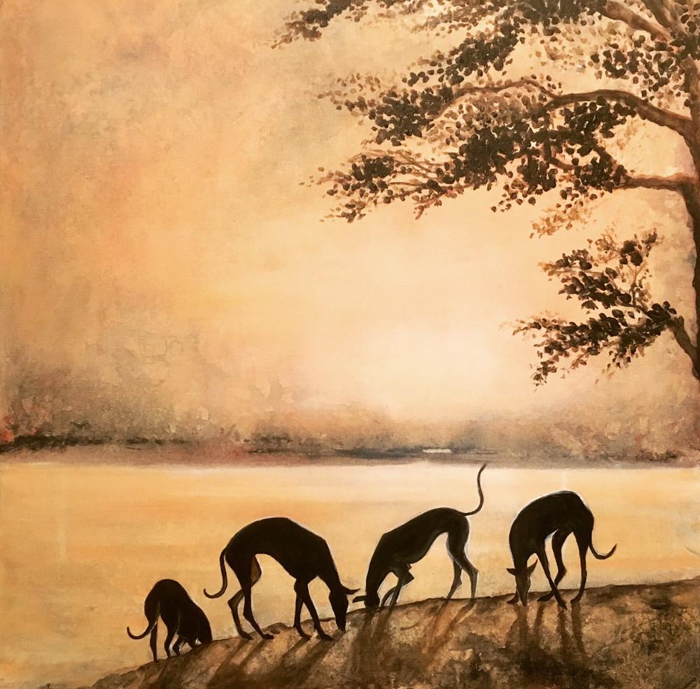 Karin Bergdahl, Sunset by the Lake - bes