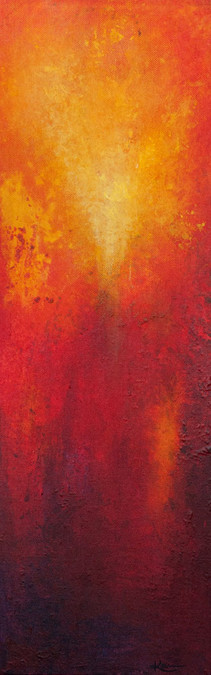 Karin Bergdahl, Red I, 20x60, akryl, 201