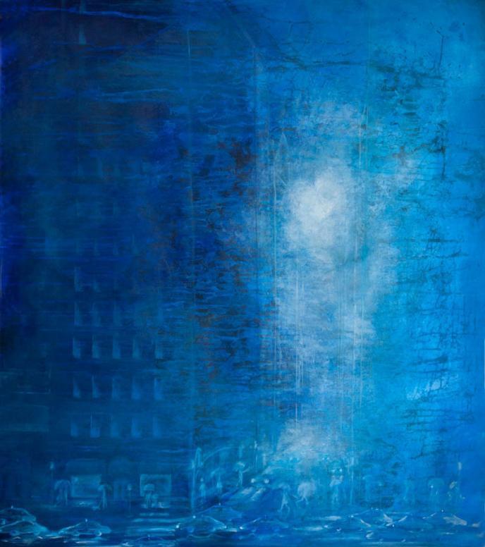 Karin Bergdahl, New York in Rain, 112x13